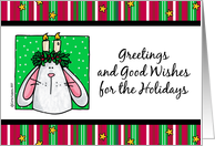 good wishes for the holidays card