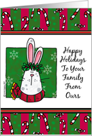 happy holidays to your family card