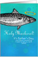 2 dads - Father's Day - Holy Mackerel card