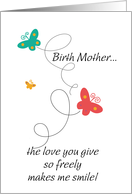 birth mother - Dancing Butterflies - Birthday card