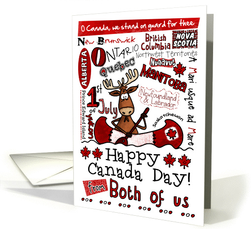 Happy Canada Day - from both of us card (856621)