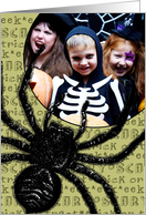 Happy Halloween Spider - Customized Photo card