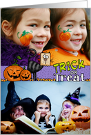 Happy Halloween Trick or Treat - Customized Photo card