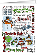 Holiday Wishes for Foster Family - Caroling Snowmen card
