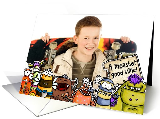 Monster Birthday Party Invitation - Photo card (875413)