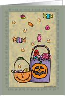 halloween - trick or treat card