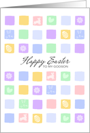 Modern Easter Squares - Happy Easter to my Godson card