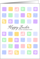 Modern Easter Squares - Happy Easter to my Godmother card