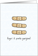 Get Well bandage - Italian card