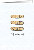 Feel Better Soon - bandages card