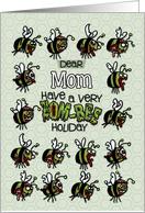 for Mom - Zombie Christmas - Zom-bees card