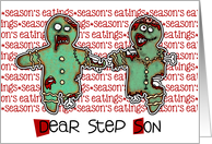 for Step Son - Zombie Christmas - Season's Eatings card