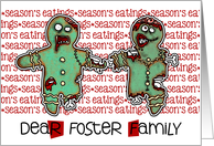 for Foster Family - Zombie Christmas - Season's Eatings card