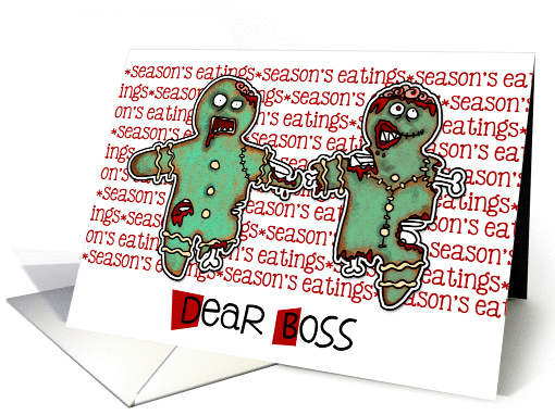 for Boss - Zombie Christmas - Season's Eatings card (992495)