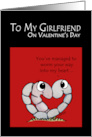 Happy Valentine's Day to my Girlfriend-Worm Your Way into my Heart card