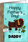 Customizable Happy Father's Day, Daddy, Sleeping Bear, Do Not Disturb card