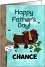 Customizable Happy Father's Day, Chance, Sleeping Bear, Do Not Disturb card