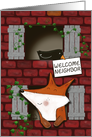 Welcome to the Neighborhood, Fox and Crow Look Out Windows card