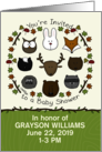 Customizable Baby Shower Invitation, Forest Animals,Woodland Theme card