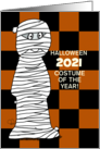 Customizable Halloween 2020 After COVID19 TP Mummy Costume card