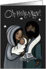 Holy Family Mary Joseph and Baby Jesus Merry Christmas Oh Holy Night card