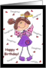 Happy Birthday to Daughter- Angel Hearts card