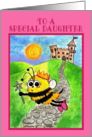 Happy Birthday for Daughter-Bee Princess card