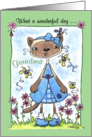 Happy Birthday to Grandma-Siamese Cat in the Garden card