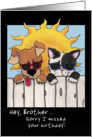 Belated Birthday for Brother- Dog and Cat in Sunglasses card