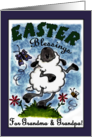 Happy Easter Blessings for Grandma and Grandpa- Dancing Lamb card