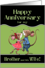 Happy Anniversary to Brother and his Wife- Two Dancing Mice card