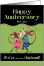 Happy Anniversary to Sister and her Husband- Two Dancing Mice card