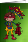 4th Birthday for Grandson- Superhero-Comic Style card