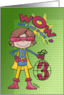 3rd Birthday for Grandson- Superhero-Comic Style card