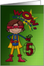 5th Birthday for Grandson- Superhero-Comic Style card