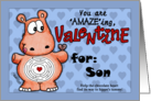 Valentine for Son- Hippo and Chocolate -Maze card