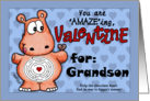 Valentine for Grandson- Hippo and Chocolate -Maze card