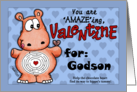 Valentine for Godson- Hippo and Chocolate -Maze card