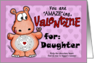 Valentine for Daughter- Hippo and Chocolate -Maze card