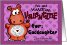 Valentine for Goddaughter- Hippo and Chocolate -Maze card