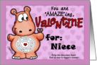Valentine for Niece- Hippo and Chocolate -Maze card