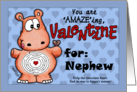 Valentine for Nephew- Hippo and Chocolate -Maze card