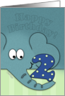 Happy Birthday for Two Year Old- Elephant with Number Two card