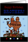 Happy Birthday for Texan Brother-Native Texas Animals card
