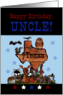 Happy Birthday for Texan Uncle-Native Texas Animals card