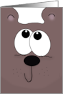 Belated Birthday for Brother- Bear in Mind-Cartoon Bear Face card