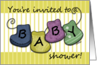 Baby Shower Invitation BABY Booties card