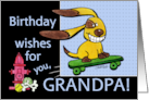 Birthday for Grandpa- Skateboarding Dog-Years Fly By card
