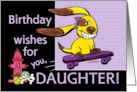 Birthday for Daughter-Skateboarding Dog-yEARS Fly By card