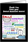 Customizable Thank You from Dental Intern-Dental Terms Subway Art card